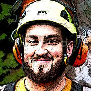 Ryan Gansner, one of Precision Tree Services Supertreeroes